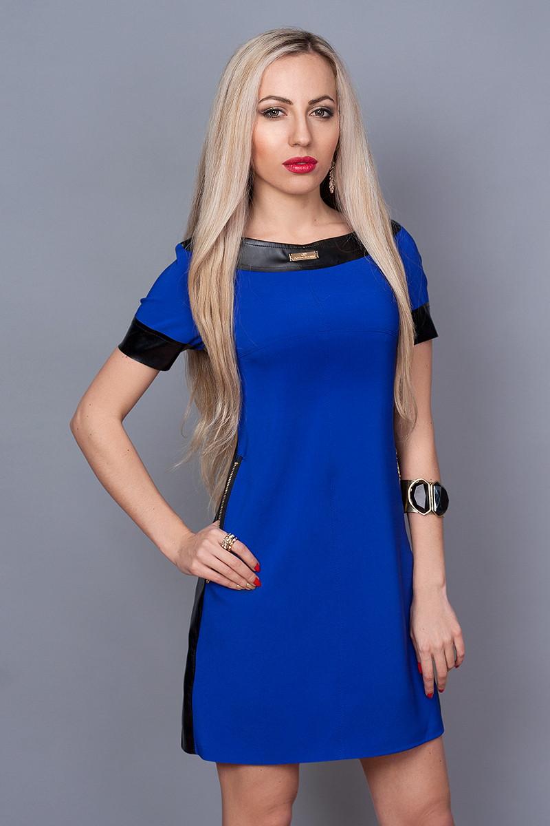Платье мод. 382-5,размер 44 электрик