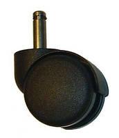 Ролик (колесо) для офісного крісла, пластик, шток d=10 мм / Мебельный ролик для офисного кресла, шток 10 мм