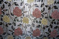 Ткань мебельная Язгулу- шенилл декор / розовый