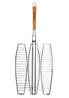 Решетка для рыбы  36*36*2 см с деревянной ручкой СКАУТ 0710/
