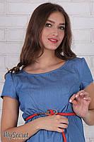 """Легкое платье для беременных и кормящих """"Celena"""", джинсово-голубое 1"""
