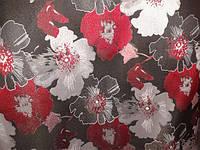 Ткань мебельная ANITA black 23 -  жаккард