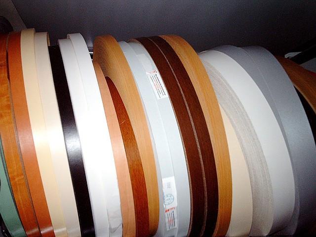 Кромка для ДСП (ПВХ, без клею) 0,45 х 22 мм, дерево, металік / Кромка для ДСП (ПВХ, без клею) дерево, металік