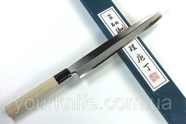 Купить нож кухонный японский Sakai Yoshiharu Aogami YANAGIBA Sashimi 240мм