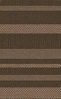 Ткань мебельная Твид страйп шоколад (рогожка)