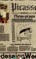 Тканина меблева Велюр Bella газета / Ткань мебельная обивочная - велюр Белла газета 003
