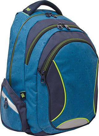 """Качественный подростковый рюкзак 27 л. Т-24 """"Navy"""" YES! 552684"""