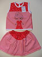 Футболка и юбка для девочки 1,6 - 2 лет