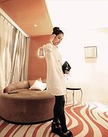 Удлинённая белая рубашка-туника