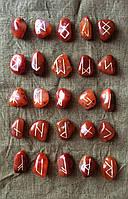 Руны из камня, 25 символов. Сердолик. (L)