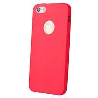Ультратонкий ТПУ чехол Melody для iPhone 5/5s Red, фото 1