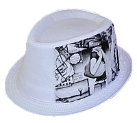 Шляпа челентанка фотопринт х/б абстракция