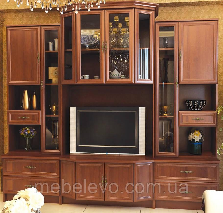Гостиная Эко комплект №2 2065х2300х552мм орех   Мебель-Сервис