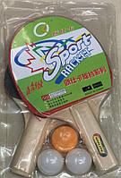Теннис настольный, 2 ракетки, 3 мяча, 6 мм, PP0101