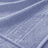 Махровые полотенца с бордюром 50х90; плотность: 500 г/м² сиреневый