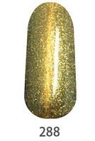 ГЕЛЬ-ЛАК  ХАМЕЛЕОН КОШАЧИЙ ГЛАЗ MY NAIL 9МЛ насыщенный зеленый с переливом в мятно-зеленый с золотым глитером