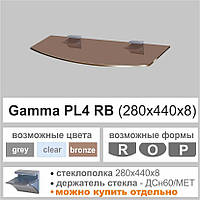 Полка стеклянная CommusPL4 RB