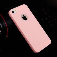 Ультратонкий ТПУ чехол Melody для iPhone 5/5s Pink, фото 1