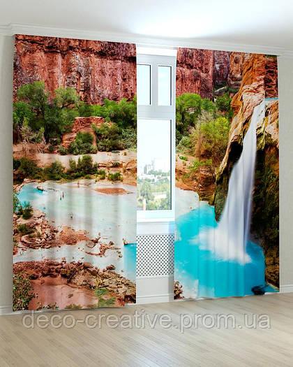 Фотошторы водопад райский уголок