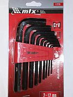 112229 набор имбусовых ключей , 2,0-12 мм (9 шт.) , МТХ