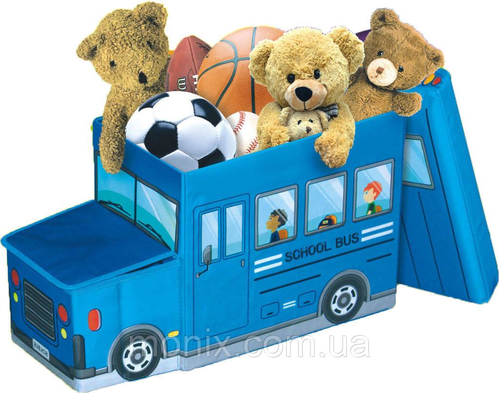 Детский пуф Автобус - Интернет-магазин Моникс в Львове
