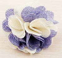 Брошь цветок светло-фиолетовый 85мм