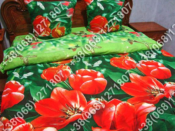 Постельное белье бязь Тюльпаны двуспальный комплект, фото 2