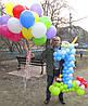 Цифра 1 голубая из воздушных шариков на Первый День Рождения