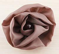 Брошь цветок светло-коричневый 90мм