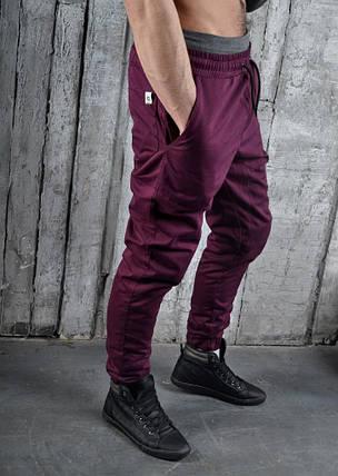 Штаны чинос котоновые, стильные(бордовые), фото 2