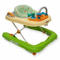 Детские ходунки Alexis-Babymix BG-0416 green-cream, зеленые
