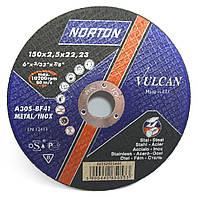 Круг отрезной по металлу Norton Vulcan 150x2.5x22.2