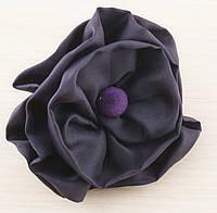 Брошь цветок фиолетовый 80мм