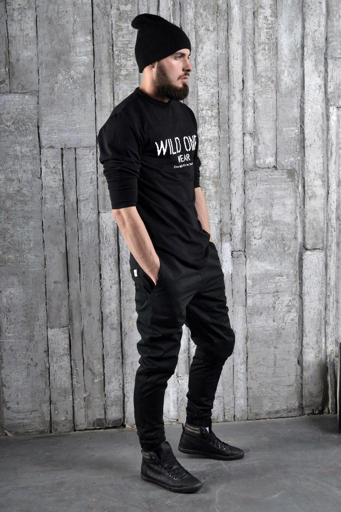Штаны чинос котоновые, стильные(черные)
