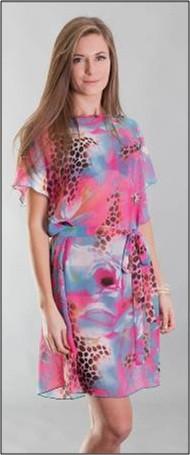 Пляжное платье-туника розовая Calipso Melody (туника пляжная женская, парео)
