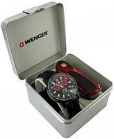 Замечательный набор часы и нож Wenger 70731.XL черный