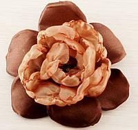 Брошь цветок коричневый 120мм (товар при заказе от 200 грн)