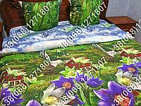 Постельное белье бязь люкс - евро комплект (0793)