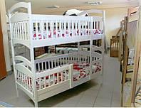 Двухъярусная кровать Карина  люкс белая + матрасы ЭКО-42