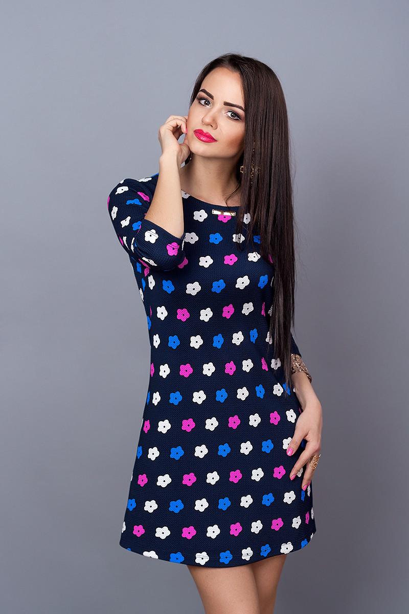 Платье мод. 237-15,размер 46 фукция с черным