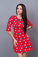 Платье мод. 237-17,размер 42,44,46 красное, фото 1