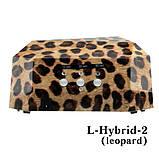 УФ Лампа для сушіння нігтів (LED+CCFL) леопардового кольору 36W LDV L-Hybrid-2 /0-11, фото 2