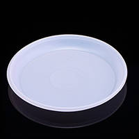 Тарелка одноразовая пластиковая 205мм, 100шт/уп