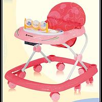 Детские ходунки Bertoni BW-4 (розовый-красный)