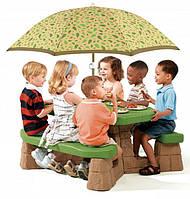 Детский Столик для Пикника с Зонтиком Step2 7877
