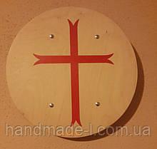 Щит круглий деревяний хрест