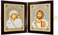 Набор для вышивания бисером православный складень Богородица Казанская и Христос Спаситель СМ7000
