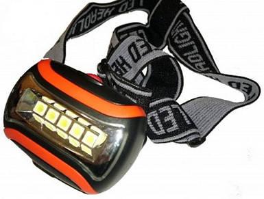 Налобный фонарь, на батарейках, удобный, фонарь на лоб 192 А, три режима, тип диода SMD, пластик