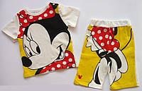 Летний костюм Minnie Mouse для девочки. 80, 90 см