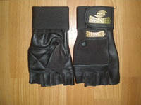 Перчатки Т/А кожа + ткань + напульсник